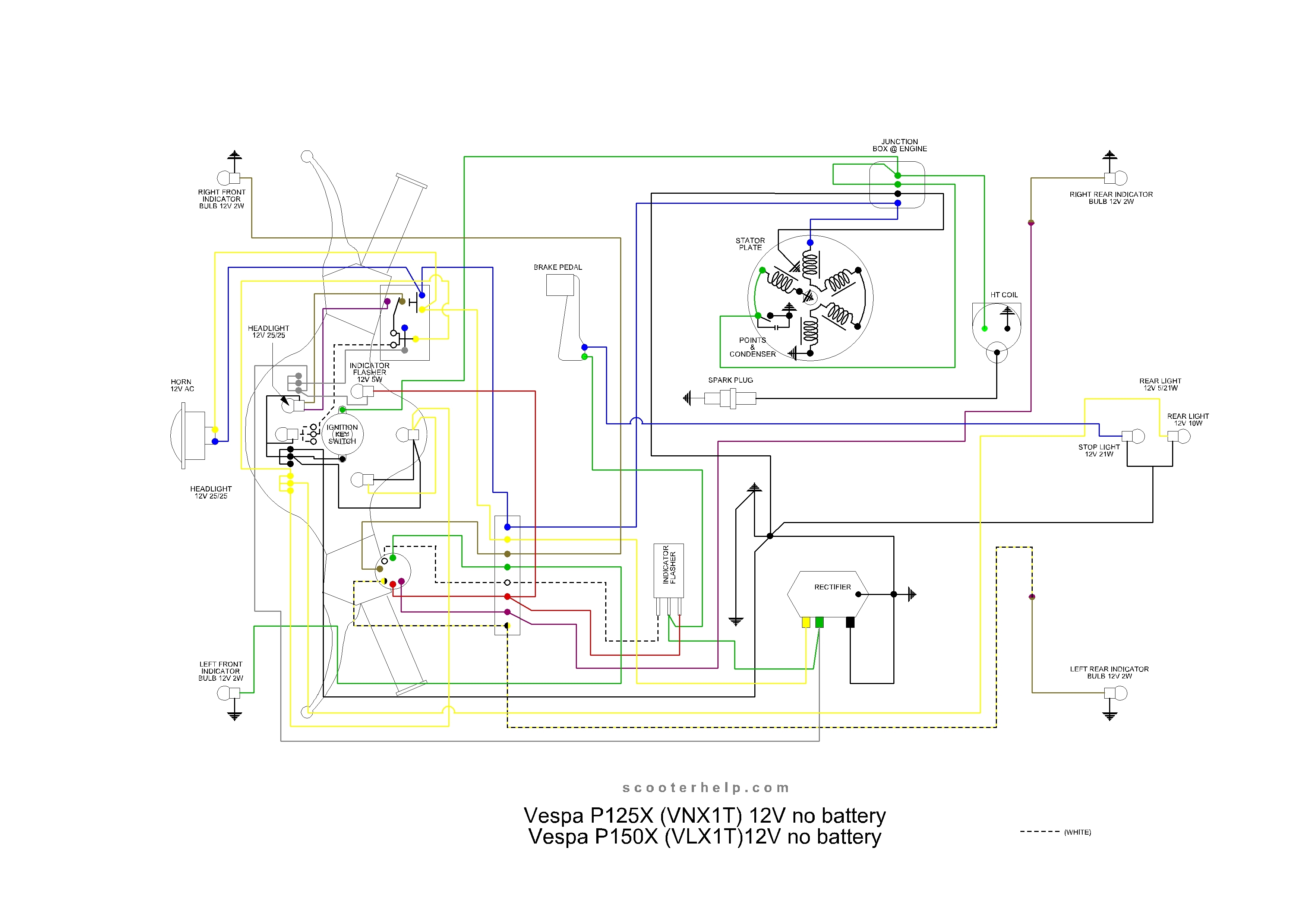 Wiring Diagram Vespa Excel - Wiring Diagram All on